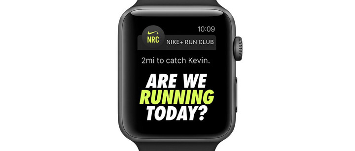 Along with special Siri commands, the watch offers great integration with the Nike+ Run Club app.