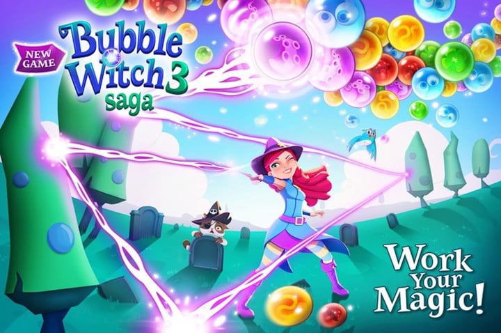 bubble shooter witch saga