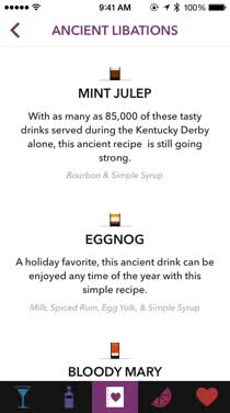Become your own bartender with Lush: Cocktail & Mixed Drink Recipes on iPhone