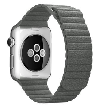 The Best Non-Apple Gray The Best Replica Leather Loop Apple Watch Band